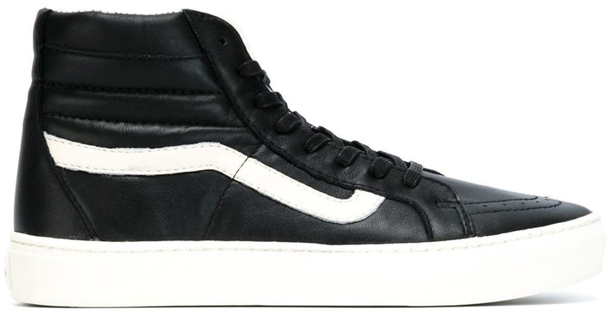 Vans Leather Hi-top Sneakers in Black