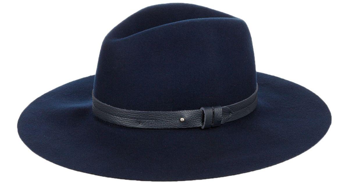 043d66165e10 Rag & Bone Wide-brim Wool Fedora Hat in Blue - Lyst