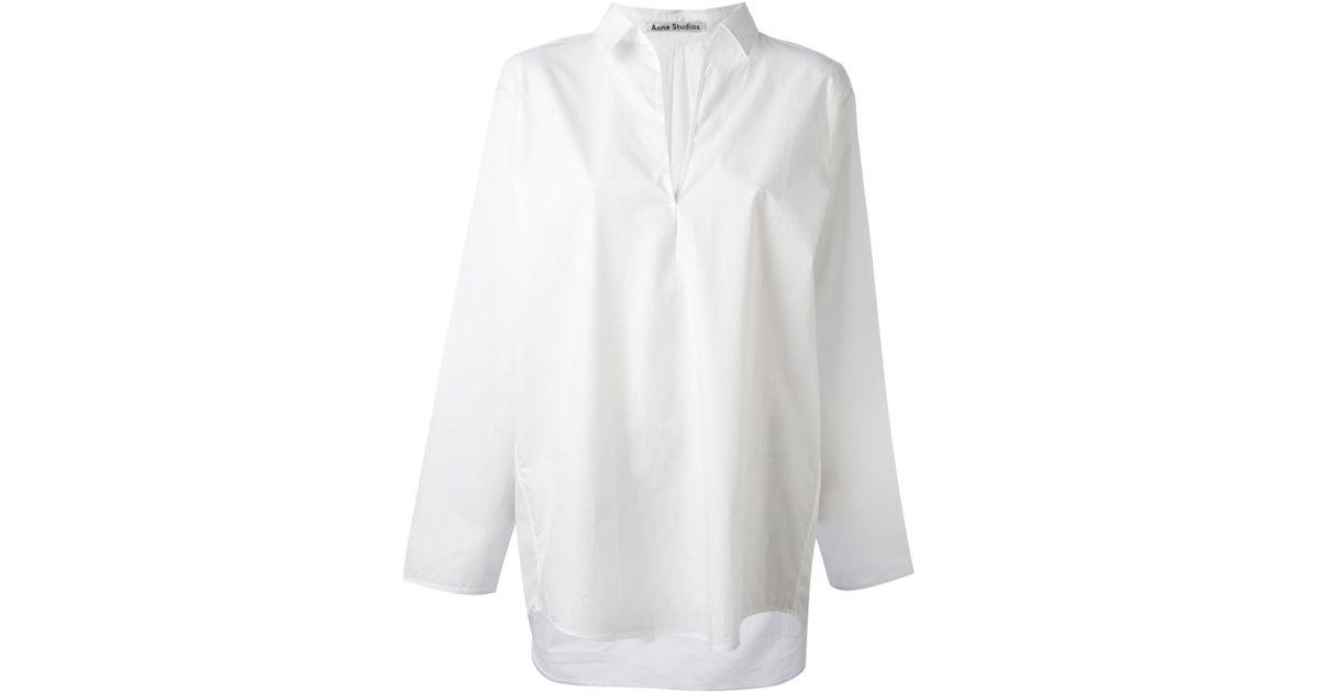 1c35f1c36 Acne Studios Lain Poplin Shirt in White - Lyst