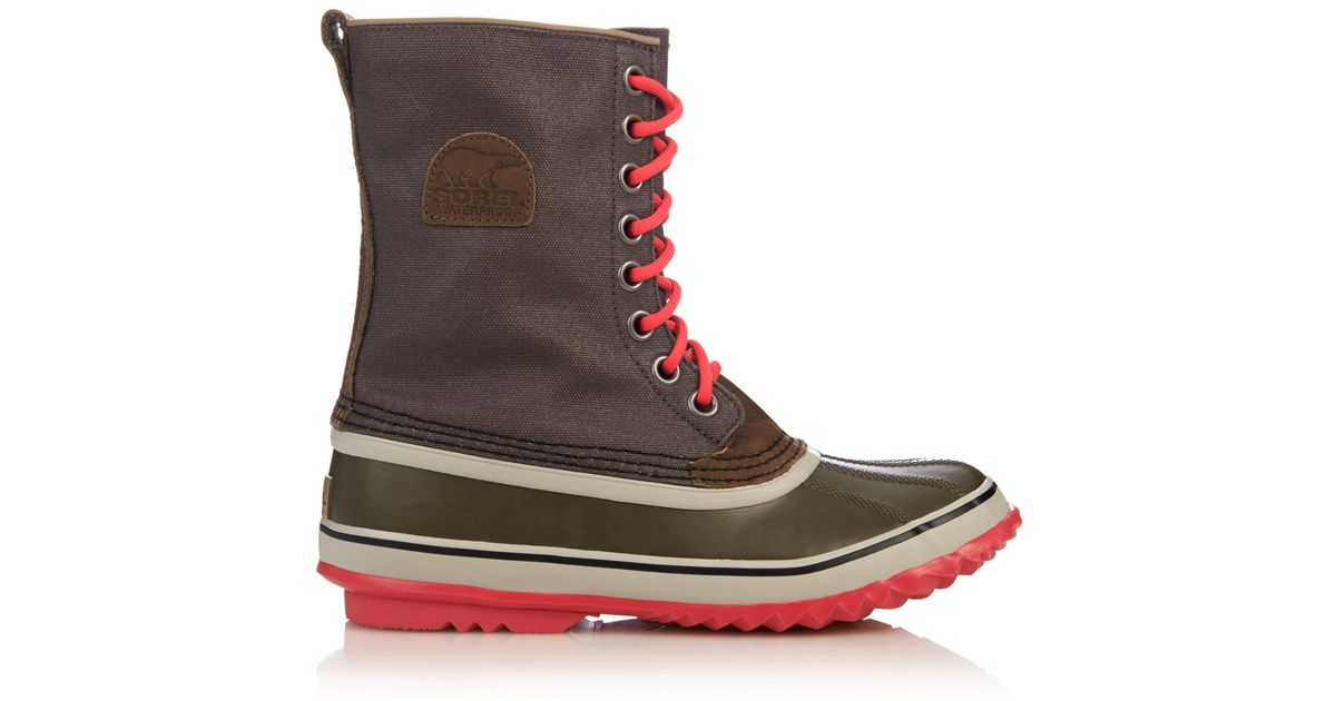 sorel 1964 premium canvas and rubber boots in lyst