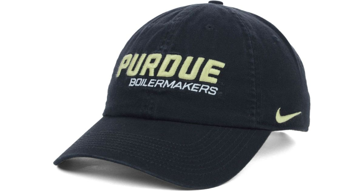 info for 4aee2 ed7a9 discount purdue nike sideline aerobill adjustable hat 08004 1420c  italy  lyst nike purdue boilermakers heritage 86 campus cap in black for men e959c  ab9c7