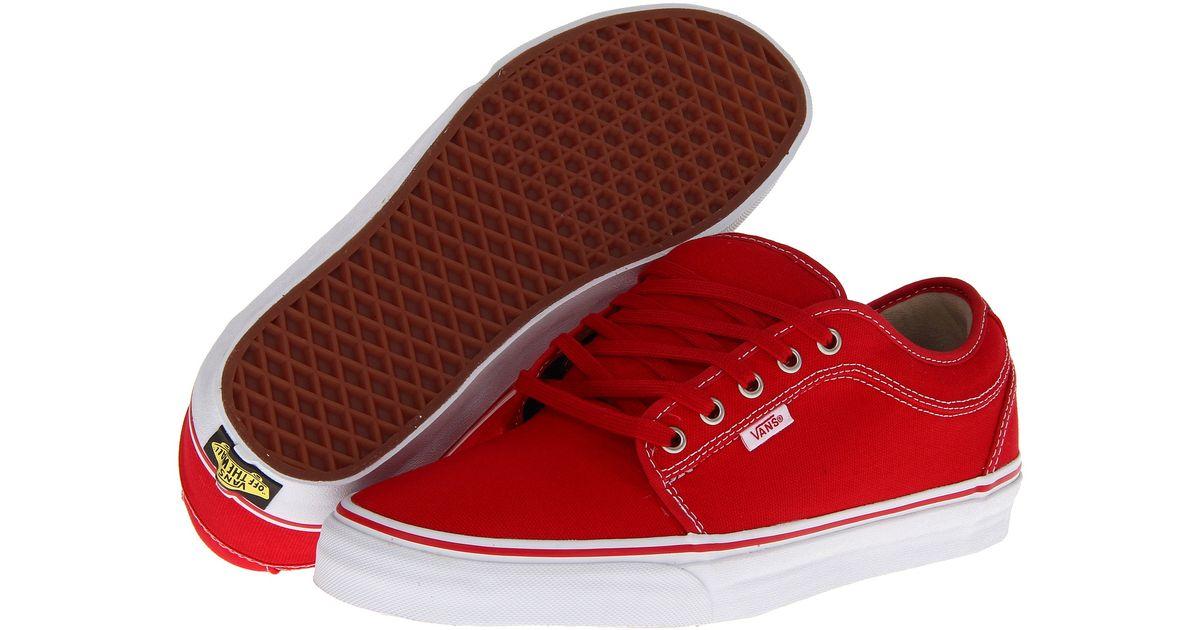 Vans Chukka Low in Red/Khaki/White (Red