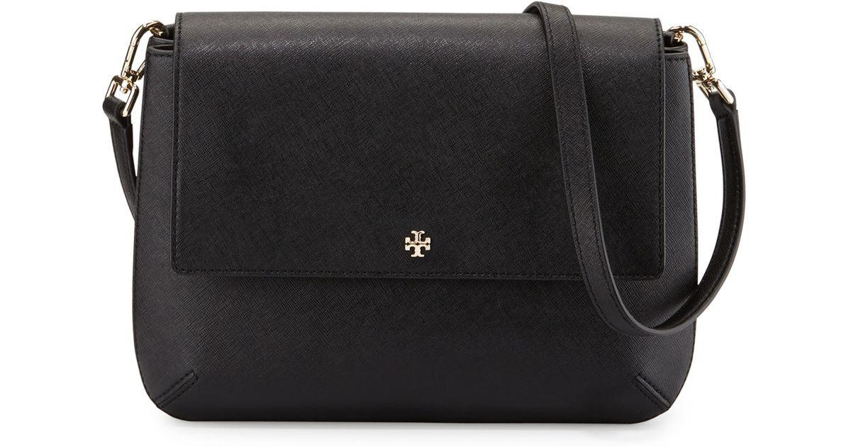 53b0453084f0 greece lyst tory burch robinson leather messenger bag in black 60dee e3c8a