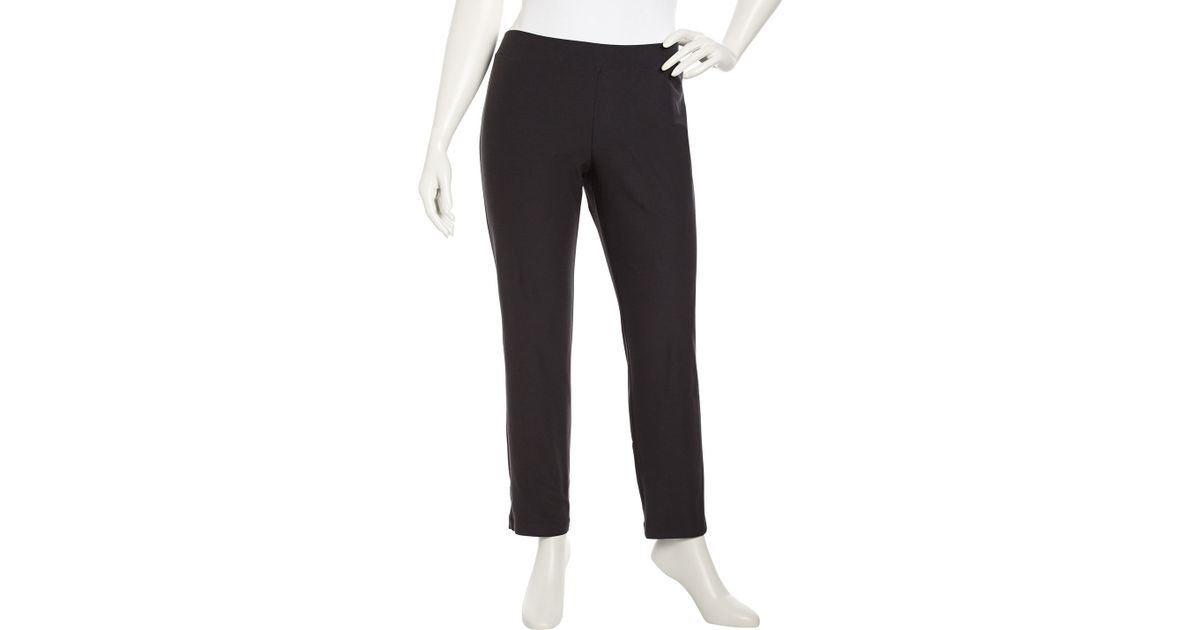 be194267a6f2 Lyst - Eileen Fisher Slim Stretch Crepe Ankle Pants Graphite Womens 3x in  Black