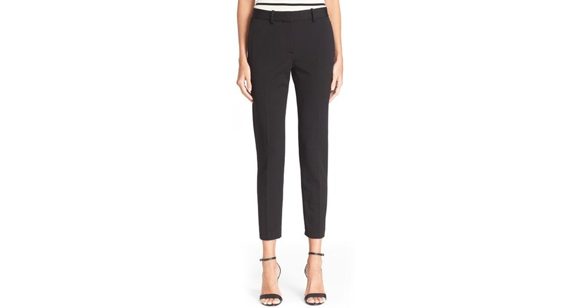 Amazing Details About Womens PU Belted Cotton Cigarette Trousers Stretch Jeans