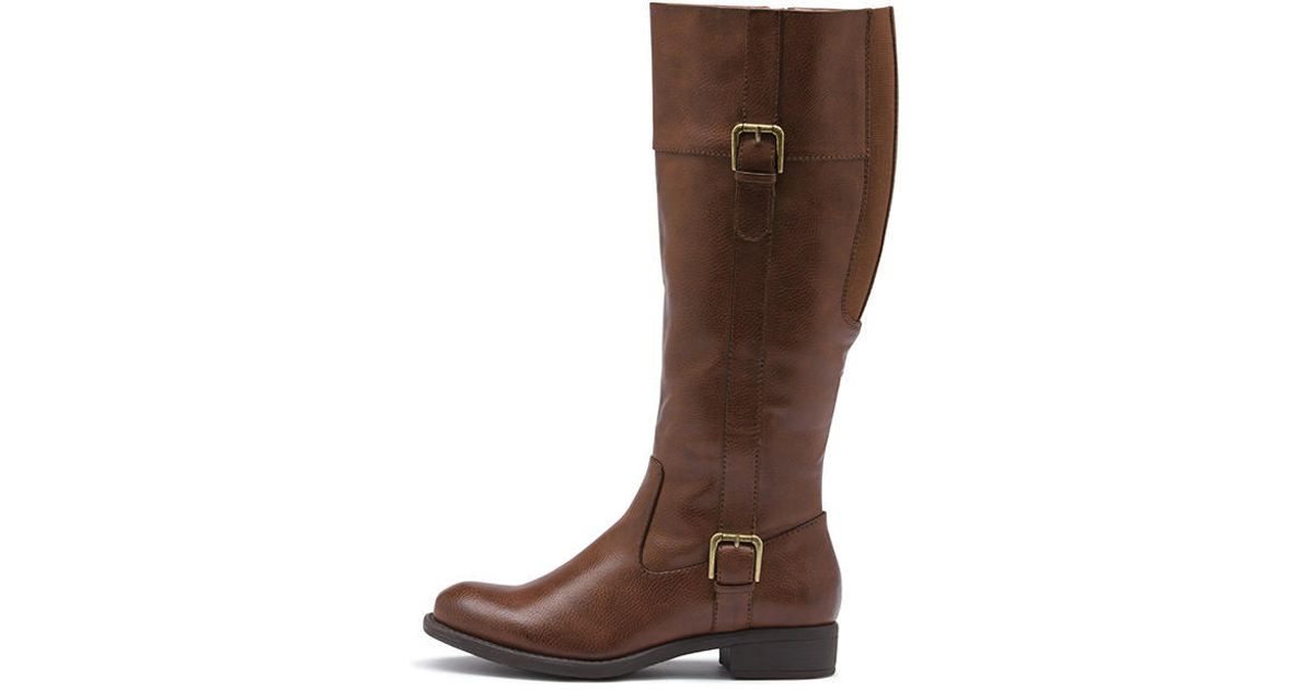 3624cac2e786 Lyst - G.H.BASS Josie Boot Wide Calf in Brown