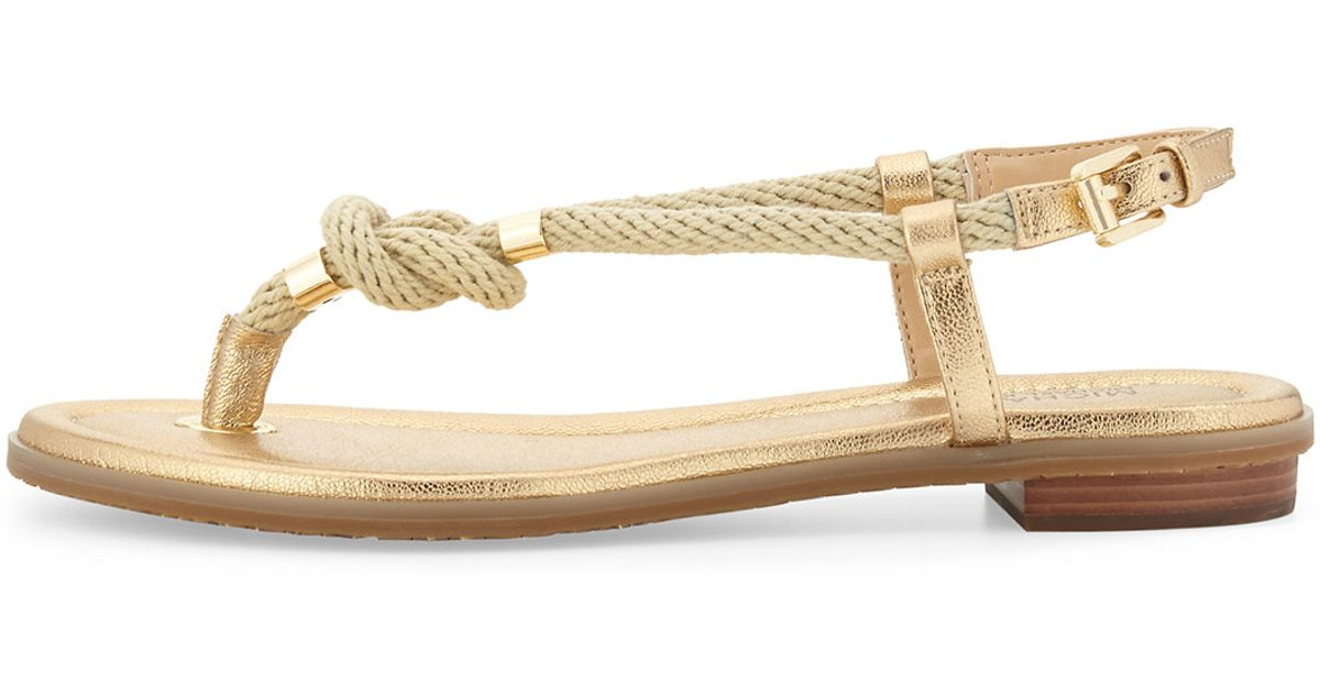 08119d586de7 Lyst - MICHAEL Michael Kors Holly Knotted Rope Sandal in Natural