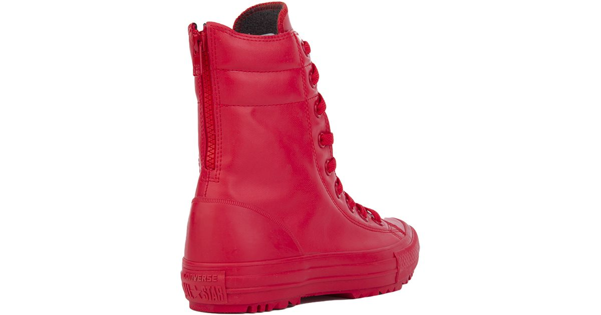 Converse Chuck Taylor All Star Hi-rise Rubber Boots - Red in Red - Lyst 2f2cc9f35d6c4