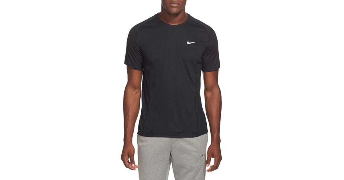 Nike 39 Miler 39 Dri Fit Uv Protection T Shirt In Black For
