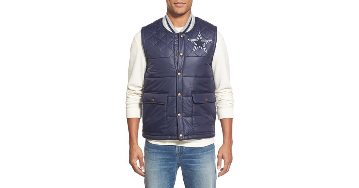 wholesale dealer 95150 116c1 Mitchell & Ness Blue 'dallas Cowboys' Quilted Nylon Vest for men
