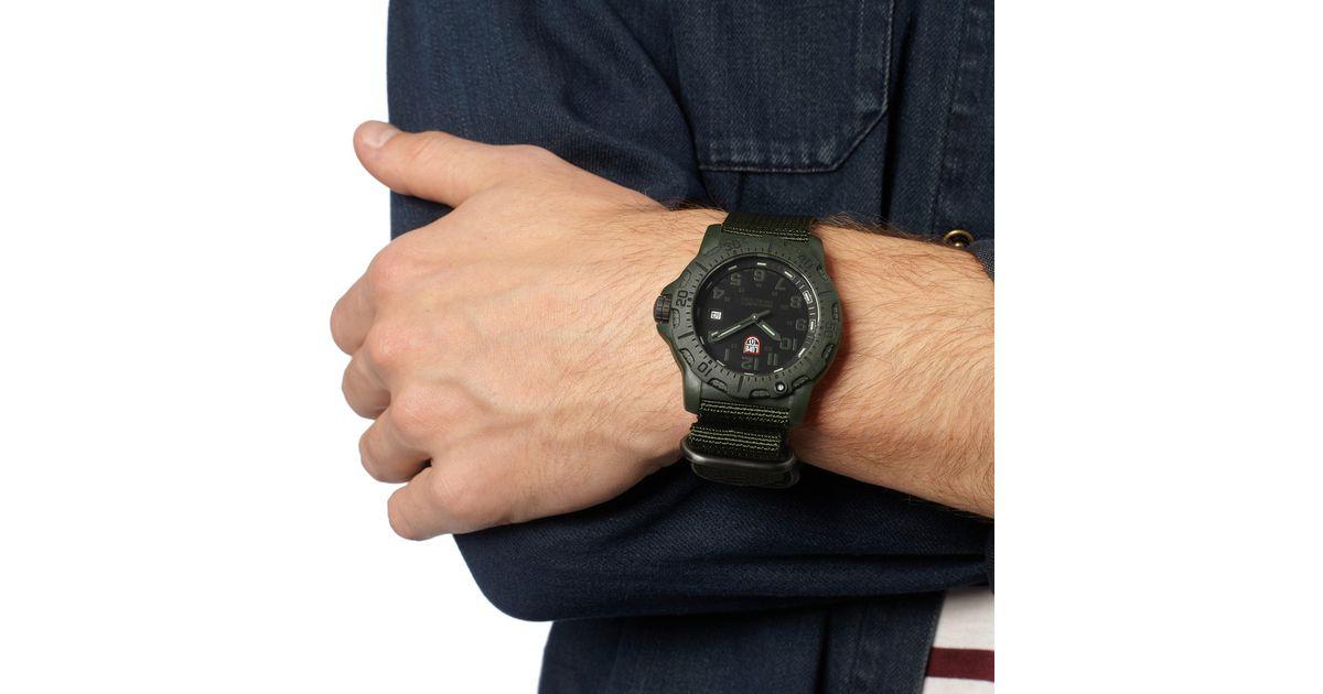Luminox Green Black Ops Carbon 8800 Series Watch For Men