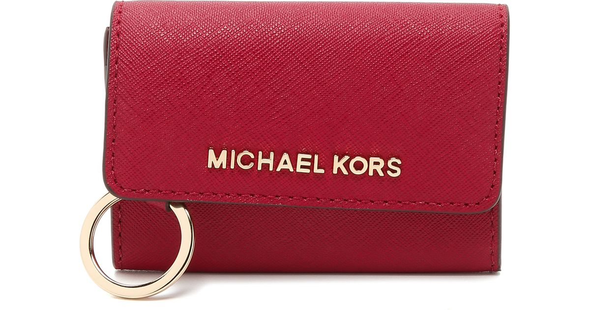 ab3e553a23e7 MICHAEL Michael Kors Jet Set Coin Purse - Cherry in Red - Lyst