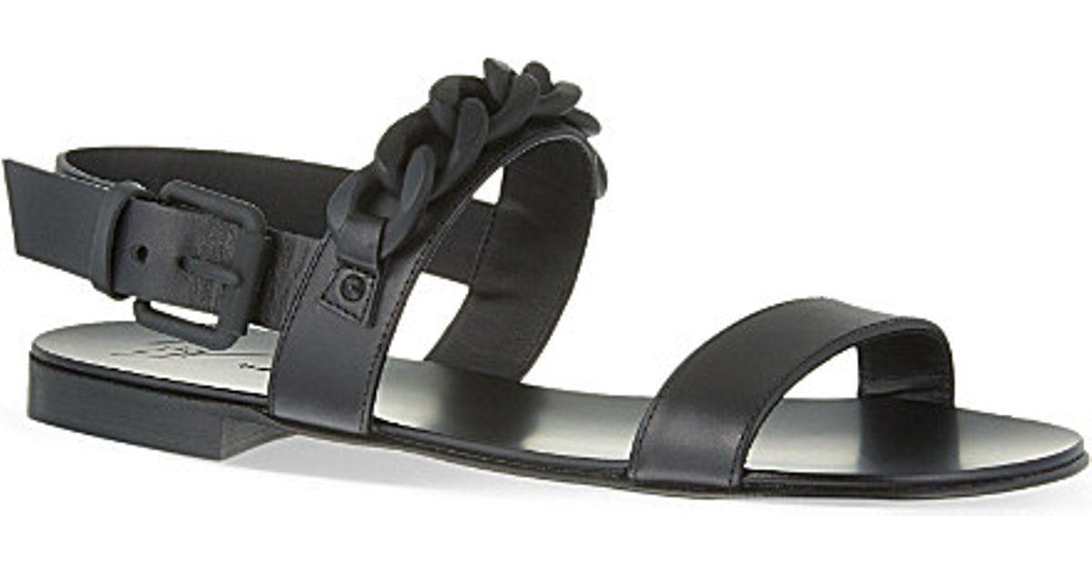Giuseppe Zanotti Chain Sandals in Black