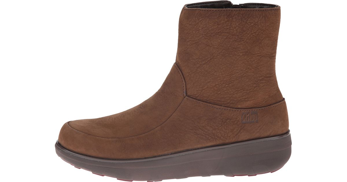 9020bf24b Lyst - Fitflop Loaff™ Shorty Zip Boot in Brown