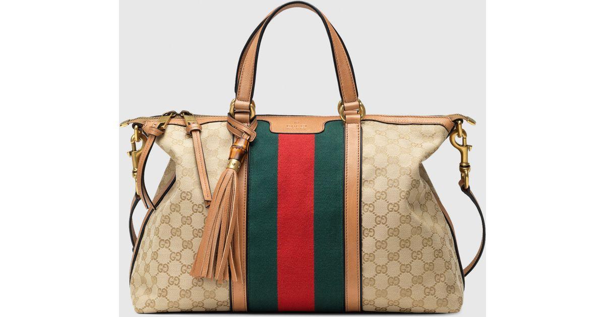 a410a26c161f11 Gucci Rania Original Gg Canvas Top Handle Bag in Blue - Lyst