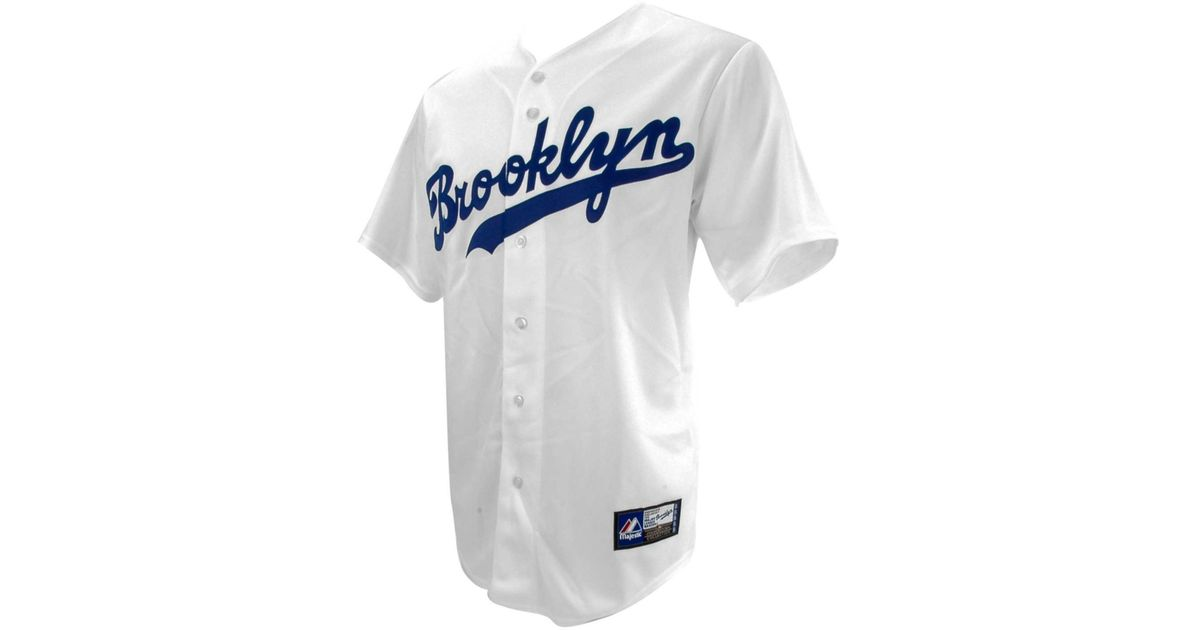 huge selection of 2f953 a01a6 Majestic White Mens Los Angeles Dodgers Cooperstown Fan Replica Jackie  Robinson Jersey for men