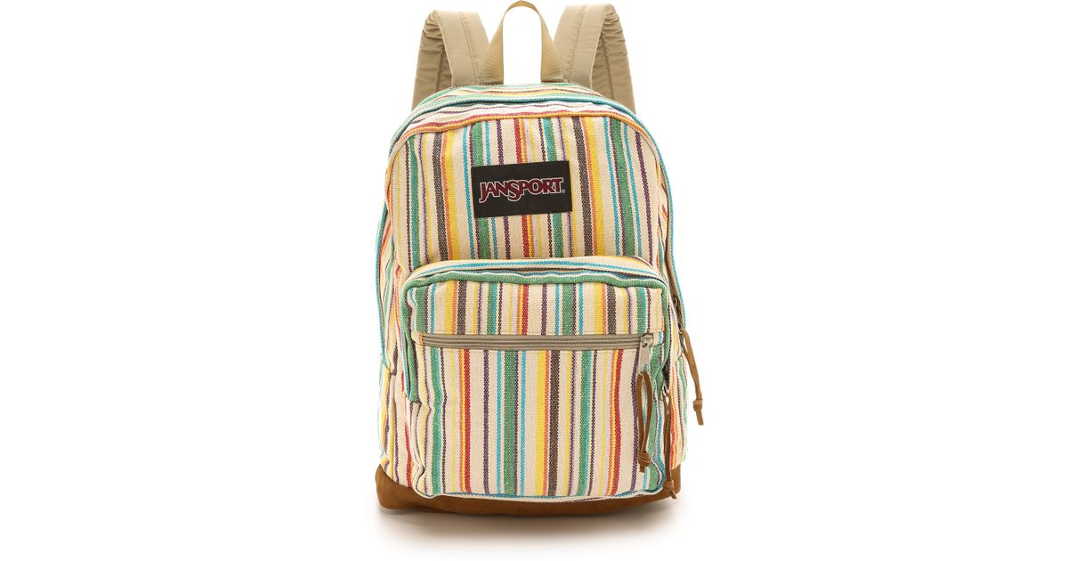 285422fc1a7 Jansport Right Pack Expressions Backpack - Multi Weave Stripe - Lyst