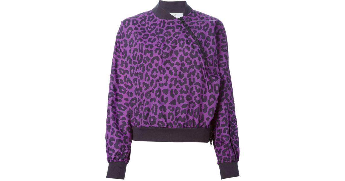 6bd6b4eae016 Lyst - adidas By Stella McCartney Leopard Print Sport Jacket in Purple