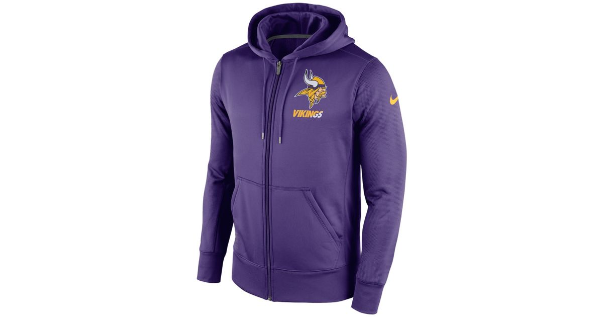 Lyst - Nike Men s Minnesota Vikings Sideline Ko Fleece Full-zip Hoodie in  Purple for Men 3182dadee