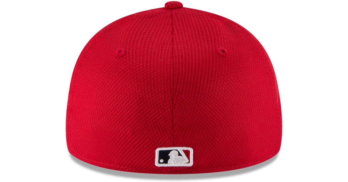 size 40 065f6 04a2f ... cheap lyst ktz st. louis cardinals low profile diamond era 59fifty cap  in red for