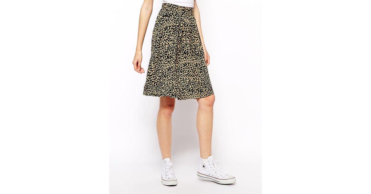 06c1d1926423 Ganni Skirt in Leopard Print - Lyst