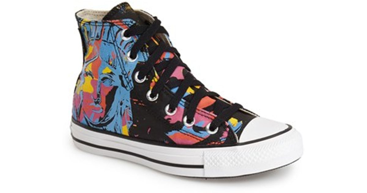 54d97c2977a1 Lyst - Converse Chuck Taylor All Star Andy Warhol Collection High Top  Sneaker in Black
