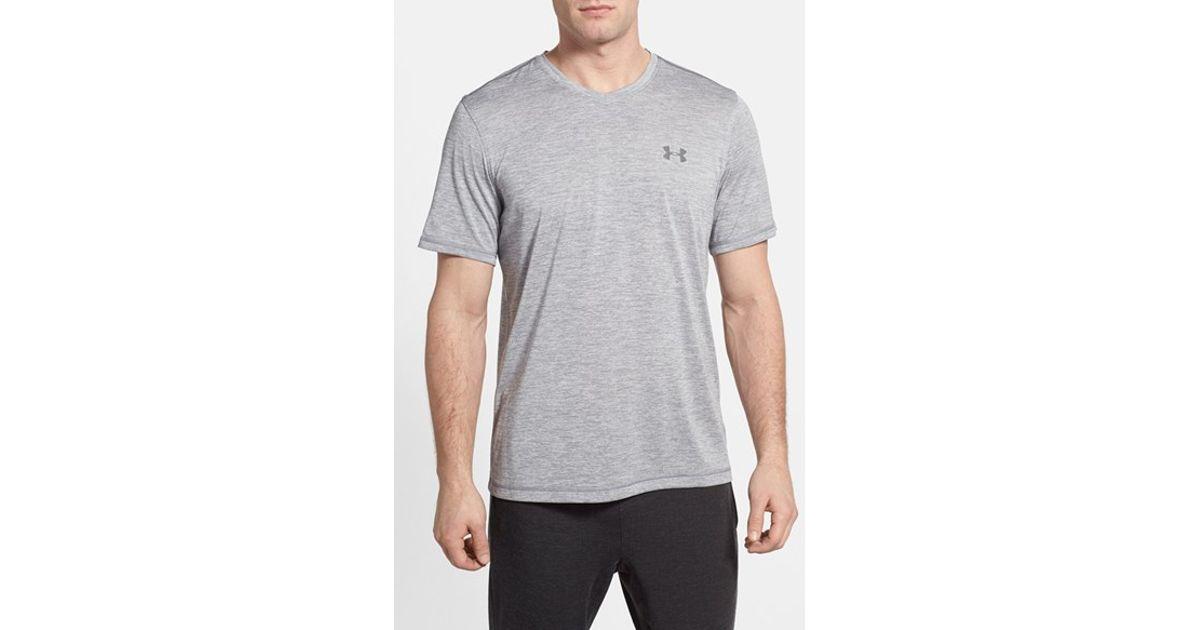 98e48d3ef1 Under Armour Gray 'ua Tech' Loose Fit Short Sleeve V-neck T-shirt for men