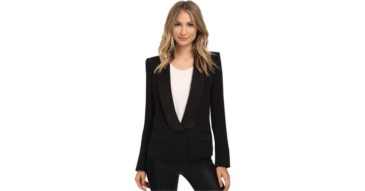 34299a1d08 Lyst - Rachel Zoe Satori Tuxedo Jacket in Black