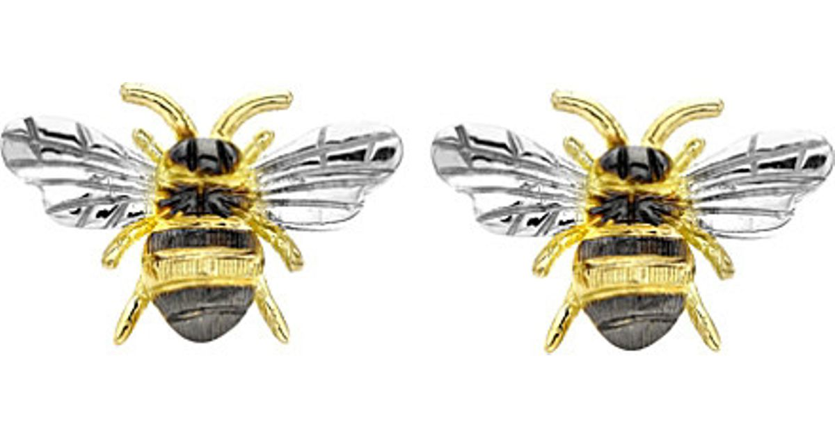 a9d96cc45 Theo Fennell Gold Bee Stud Earrings in Metallic - Lyst