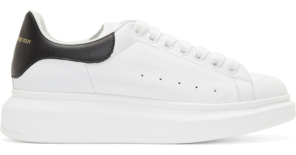 Alexander Mcqueen White Thick Sole Sneakers For Men Lyst