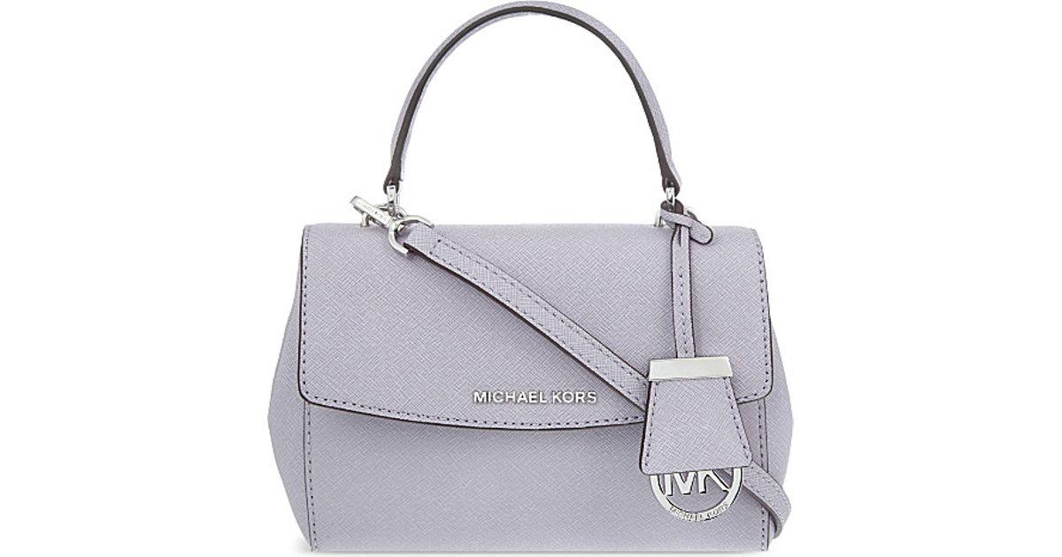 1ffabf0a581d MICHAEL Michael Kors Ava Leather Xs Cross-body Bag in Purple - Lyst