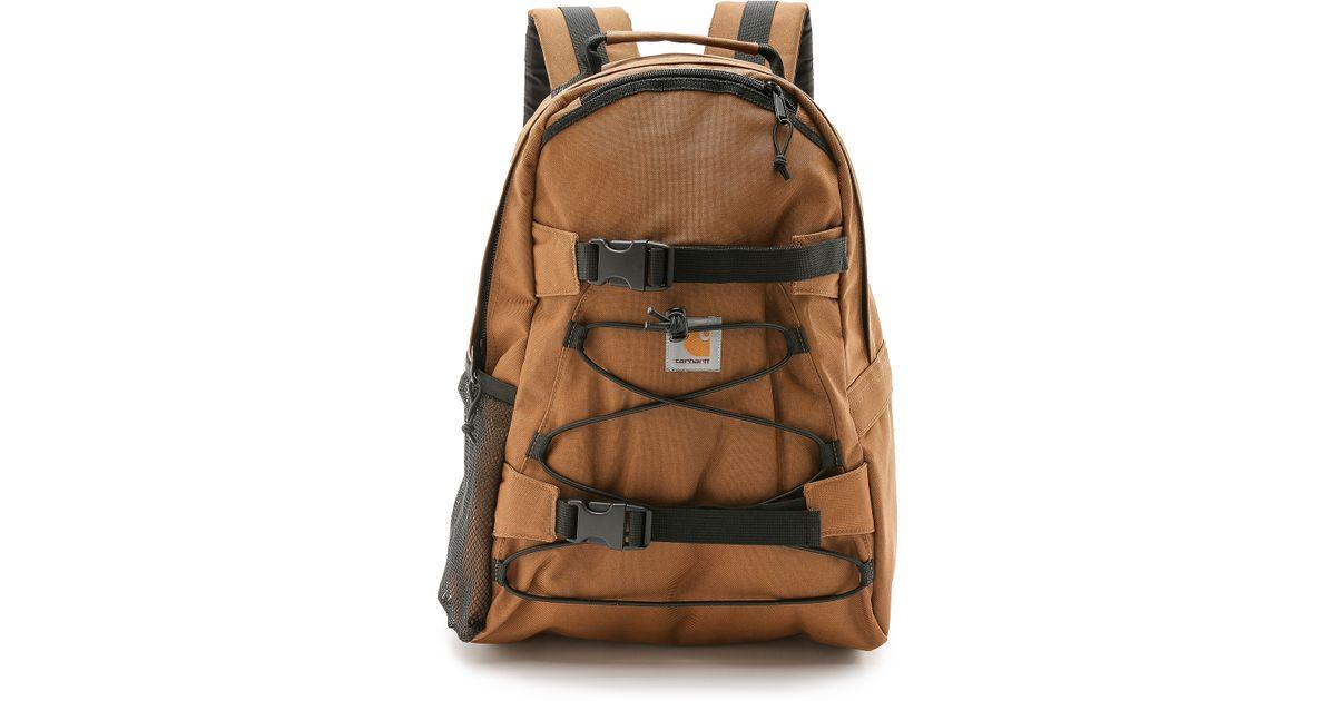 365a9c56df Carhartt WIP Kickflip Backpack in Brown for Men - Lyst