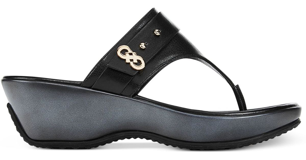 Cole Haan Leather Margate Thong Wedge