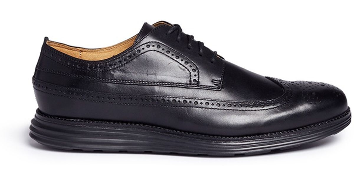 eb2e10b44dd Lyst - Cole Haan  original Grand  Leather Longwing Oxfords in Black for Men
