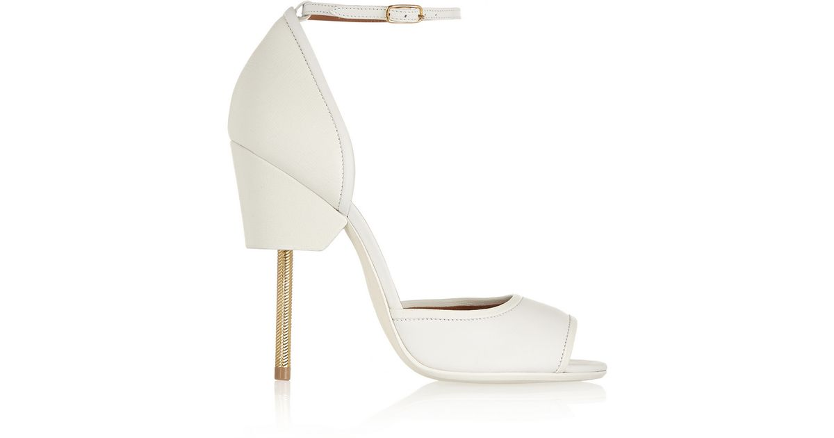fddc15ba820 Lyst - Givenchy Matilda Sandals In White Textured-Leather in White