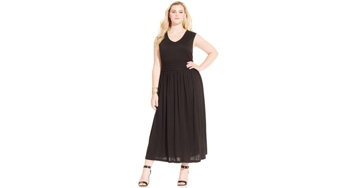 Lyst American Rag Plus Size Sleeveless Empire Waist Maxi Dress In