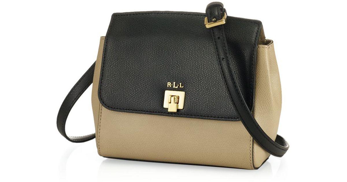 f04539ce4957 Lyst - Ralph Lauren Lauren Crossbody - Whitby Small Colorblock in Black