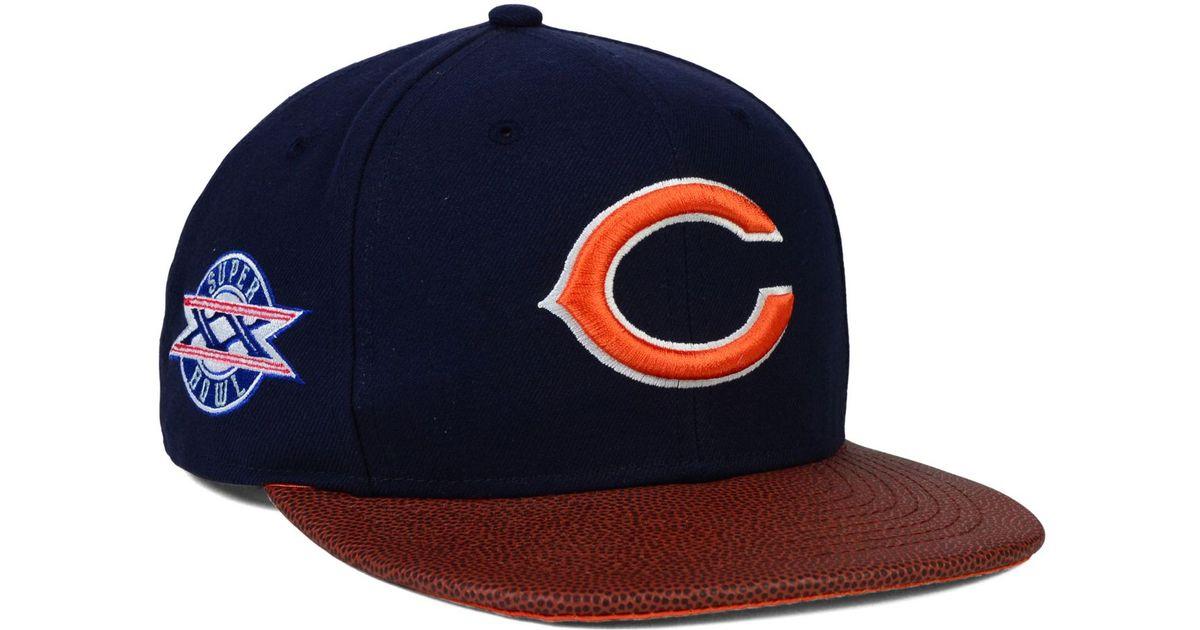 8142bd2e95d20b KTZ Chicago Bears Super Bowl Xx Athlete Vize 9fifty Snapback Cap in Blue  for Men - Lyst
