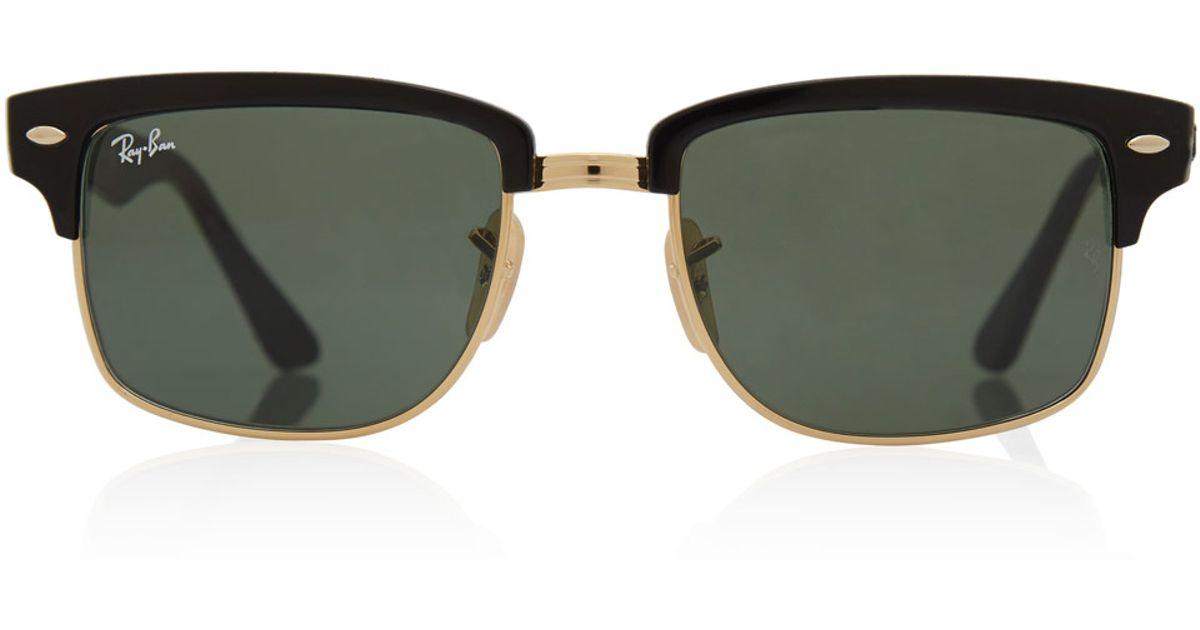 fa189b33b65 ... real lyst ray ban black clubmaster square sunglasses in black for men  ecd3e 056e0