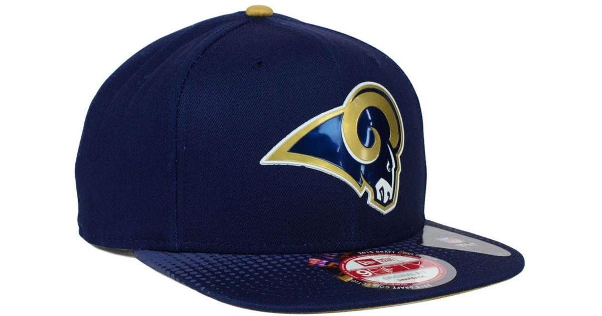 15e33a62 KTZ Blue St. Louis Rams 2015 Nfl Draft 9fifty Snapback Cap for men