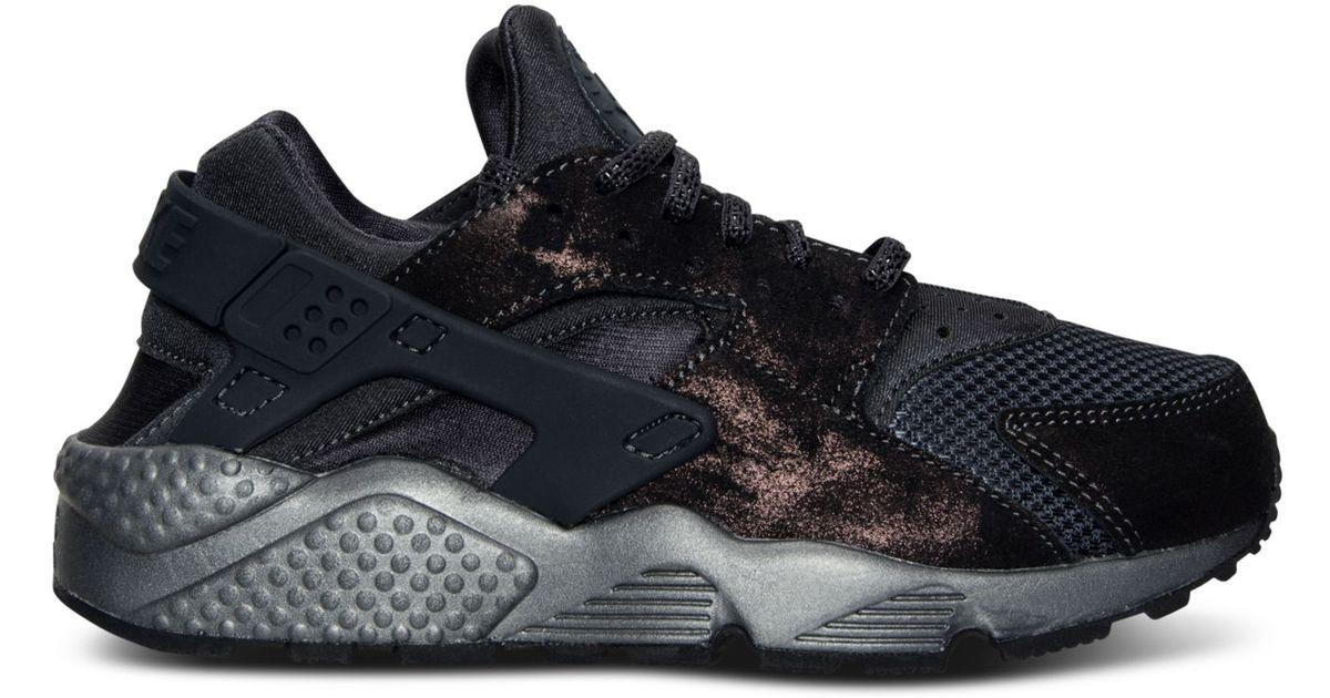 Lyst - Nike Women's Air Huarache Run Premium Running Sneakers From Finish  Line in Gray