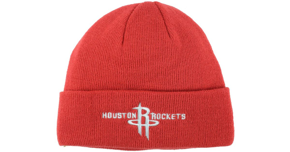 b7e6387dc9e Lyst - adidas Originals Houston Rockets Cuff Knit Hat in Red for Men
