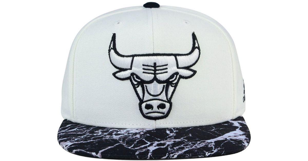 58c763f7c73 Lyst - adidas Originals Chicago Bulls White Marble Snapback Cap in Blue for  Men