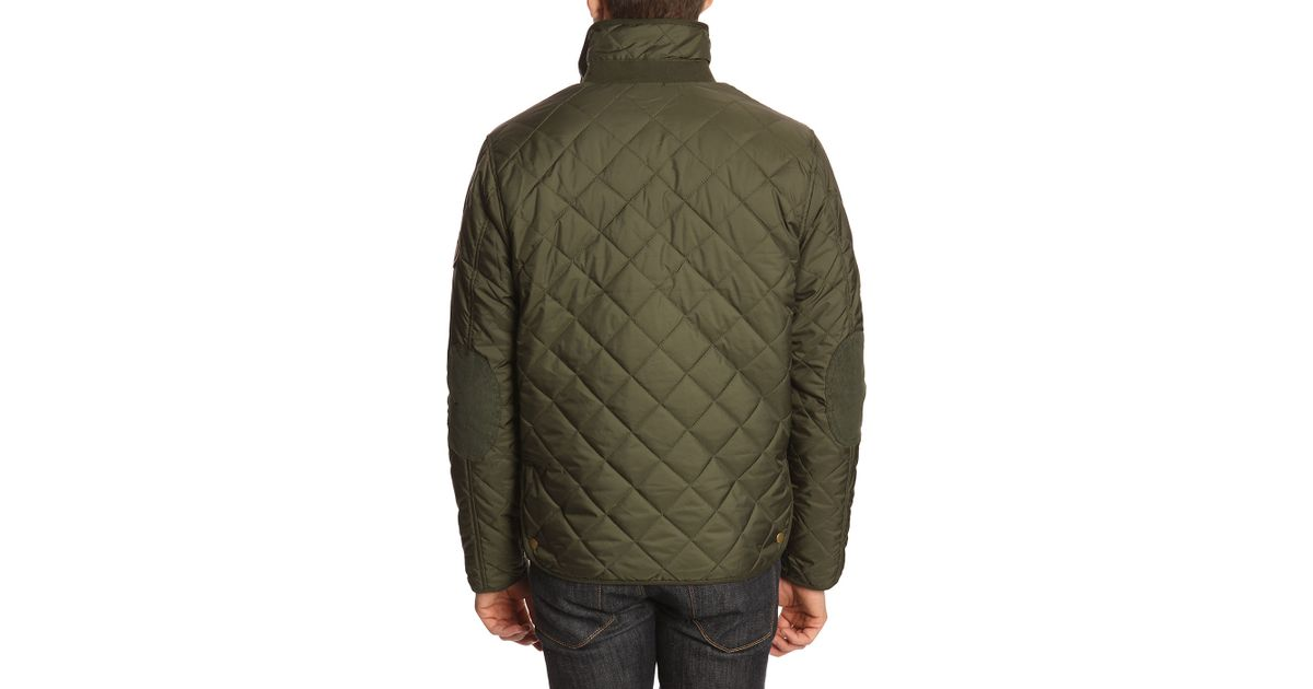 knowledge cotton apparel pet reversible quilted khaki jacket in natural for men lyst. Black Bedroom Furniture Sets. Home Design Ideas