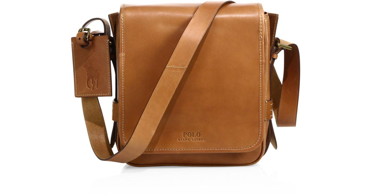 ... closeout lyst polo ralph lauren compact leather messenger bag in brown  for men 03871 f8620 40c4850148951