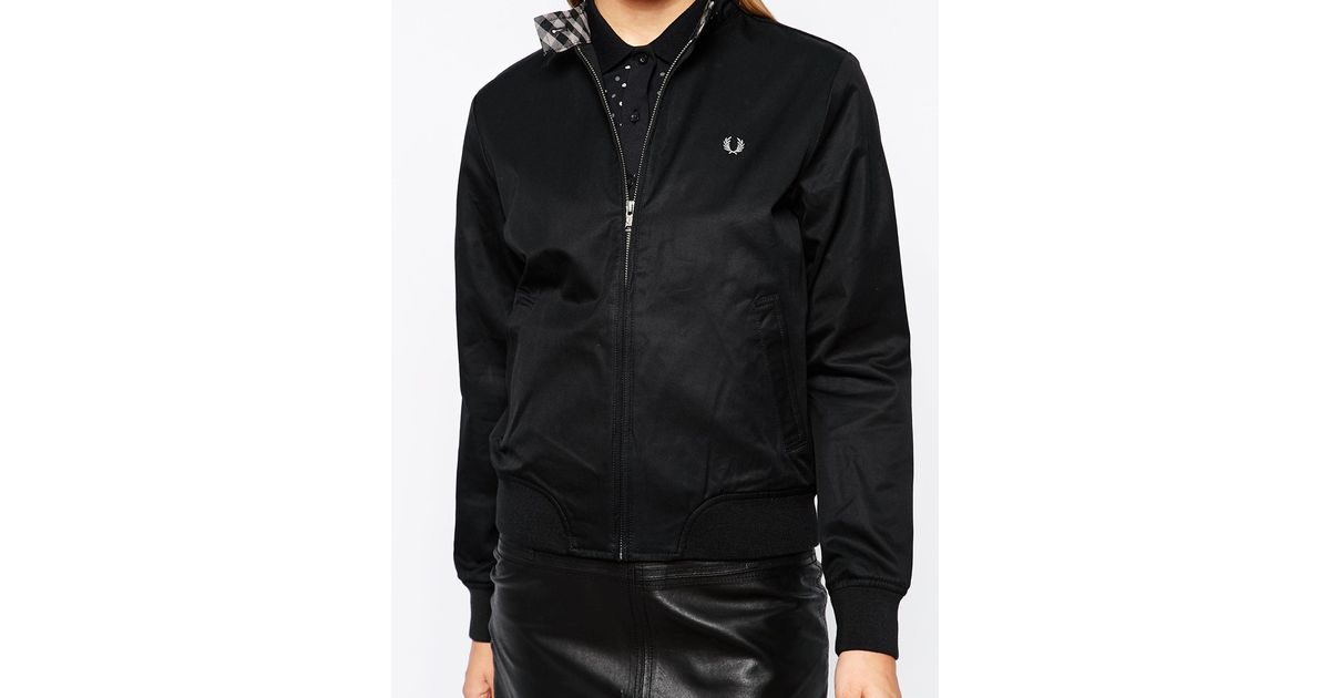 Womens harrington jacket with hood