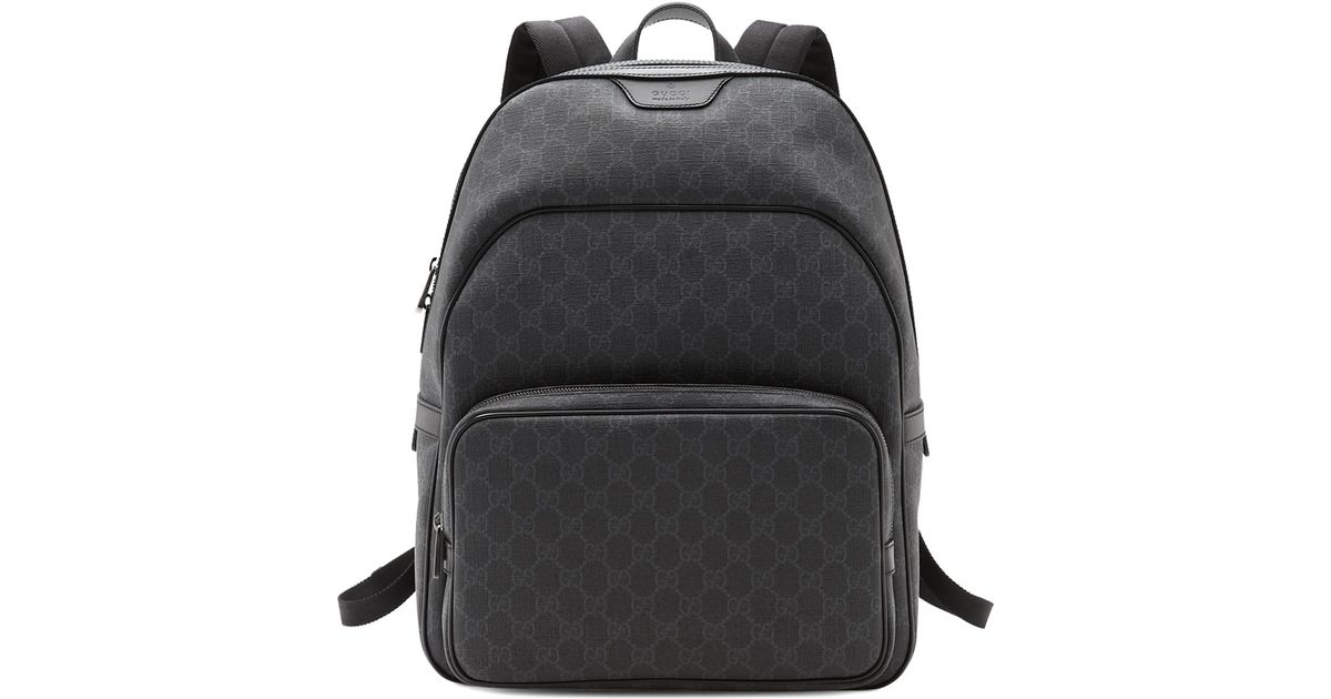 861543bf822755 Gucci Gg Supreme Canvas Backpack in Black for Men - Lyst