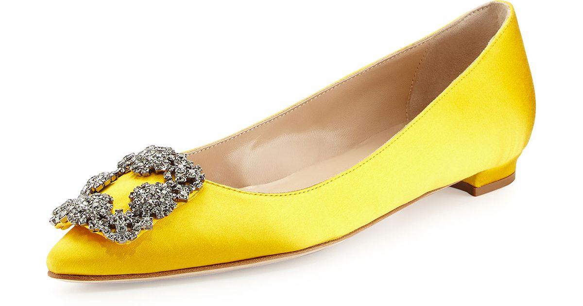 Zara Yellow Flat Shoes