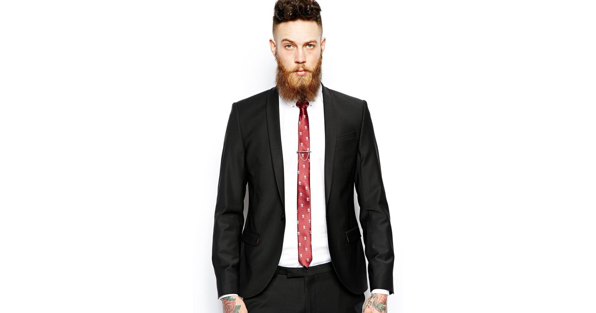 Noose and monkey Super Skinny Suit Jacket With Shawl Collar in ...