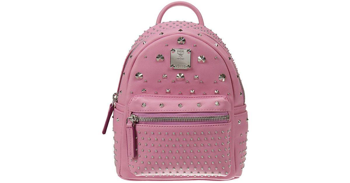 mcm backpack in pink lyst. Black Bedroom Furniture Sets. Home Design Ideas